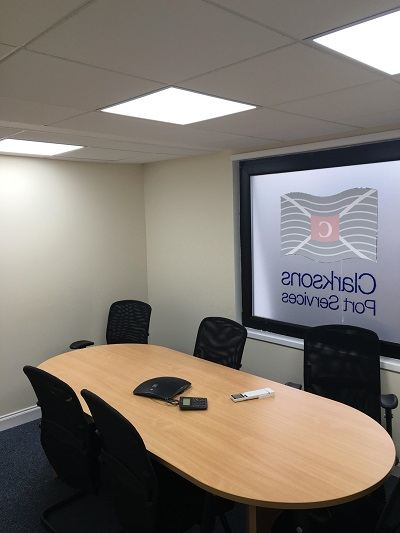 Led Lights installed in meeting room