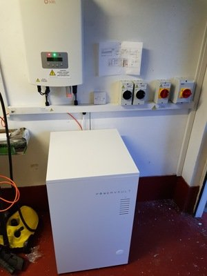 powervault battery installed by Aberdeen Electricians Ltd